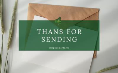 Thanks for sending