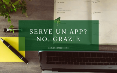 Serve un App? No, grazie