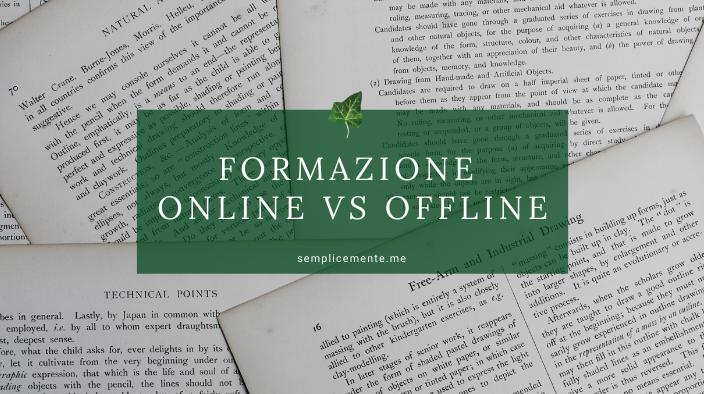 Formazione on line vs off line