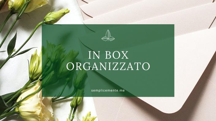 In box organizzato